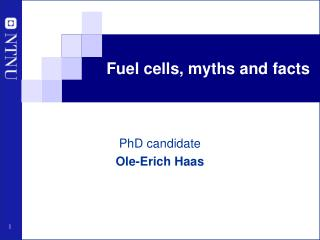 Fuel cells, myths and facts