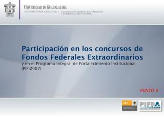 Participación en los concursos de Fondos Federales Extraordinarios