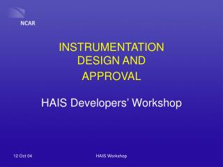INSTRUMENTATION DESIGN AND APPROVAL