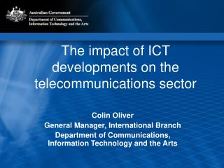 The impact of ICT developments on the telecommunications sector