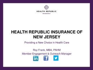 HEALTH REPUBLIC INSURANCE OF NEW JERSEY