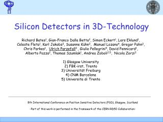 Silicon Detectors in 3D-Technology