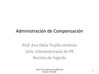 Administración de Compensación