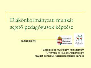 Diákönkormányzati munkát segítő pedagógusok képzése