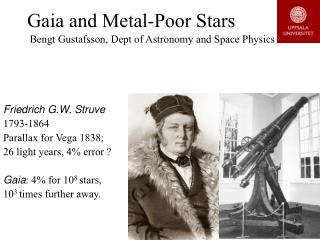 Gaia and Metal-Poor Stars