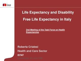 Roberta Crialesi Health and Care Sector ISTAT