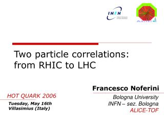 Two particle correlations: from RHIC to LHC