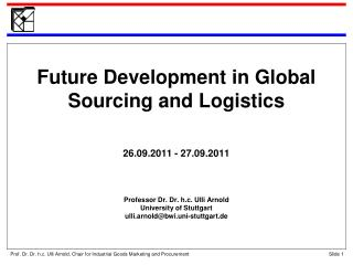 Agenda The Concept of Global Sourcing Barriers to Worldwide Sourcing