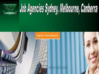 Job Agencies Sydney, Melbourne, Canberra