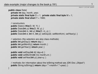 date example (major changes to the book p.191)