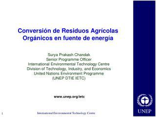 Conversión de Residuos Agrícolas Orgánicos en fuente de energía