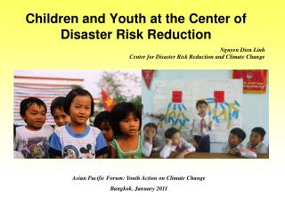 Children and Youth at the Center of Disaster Risk Reduction