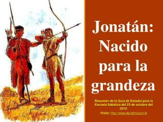 Jonat�n: Nacido para la grandeza