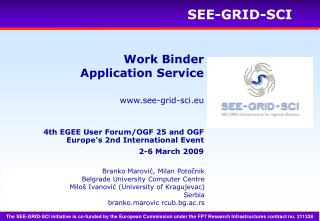 Work Binder Application Service