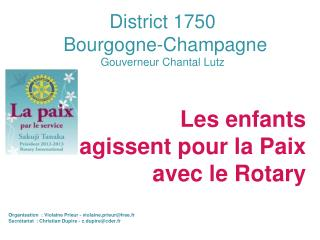 District 1750  Bourgogne-Champagne Gouverneur Chantal Lutz