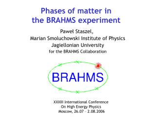 Phases of matter in the BRAHMS experiment