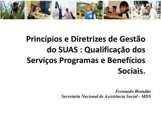 Fernando Brandão Secretaria Nacional de Assistência Social - MDS