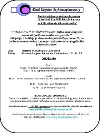 Etelä-Karjalan Psykoterapiaseura ry