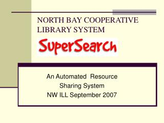 NORTH BAY COOPERATIVE  LIBRARY SYSTEM