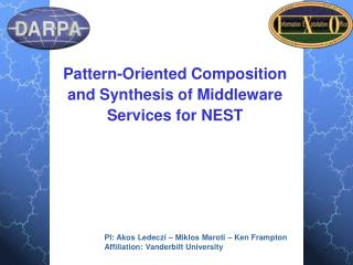 Pattern-Oriented Composition and Synthesis of Middleware Services for NEST