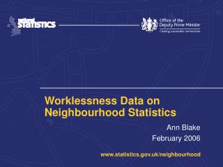 Worklessness Data on Neighbourhood Statistics
