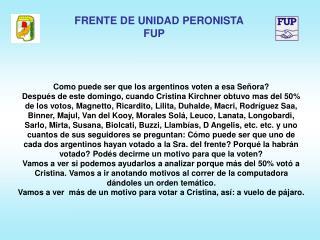 Como puede ser que los argentinos voten a esa Señora?