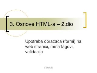 3. Osnove HTML-a – 2.dio