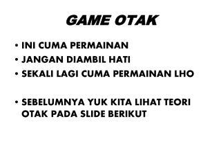 GAME OTAK