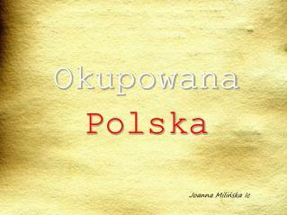 Okupowana Polska