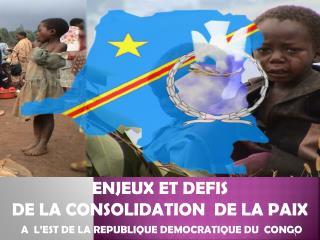 ENJEUX ET DEFIS  DE LA CONSOLIDATION  DE LA PAIX  A  L'EST DE LA REPUBLIQUE DEMOCRATIQUE DU  CONGO