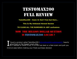 Low testosterone cure - testomax200 unbiased full REVIEW