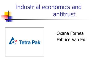 Industrial economics and      antitrust