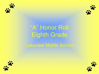 """A"" Honor Roll Eighth Grade"