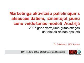 G. Schennach, BEV Austria