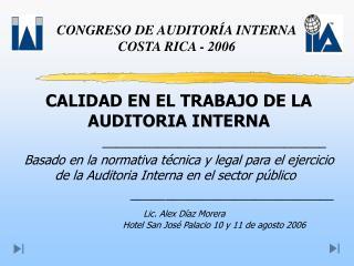 CONGRESO DE AUDITORÍA INTERNA COSTA RICA - 2006
