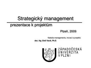 I. Formulace strategie