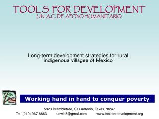 Long-term development strategies for rural indigenous villages of Mexico