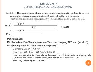 PERTEMUAN 4 CONTOH SOAL ALAT SAMBUNG PAKU