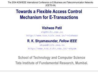 Towards a Flexible Access Control Mechanism for E-Transactions