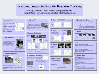 Learning Image Statistics for Bayesian Tracking