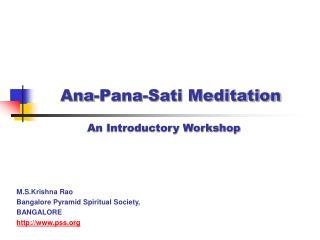 Ana-Pana-Sati Meditation