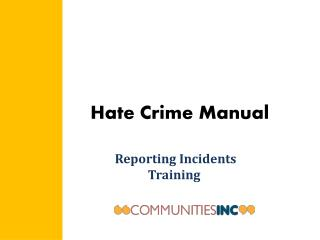 Hate Crime Manual