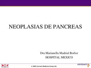 NEOPLASIAS DE PANCREAS