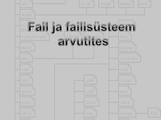 Fail ja failisüsteem  arvutites