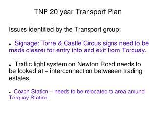 TNP 20 year Transport Plan