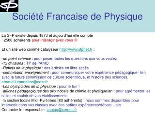 Société Francaise de Physique