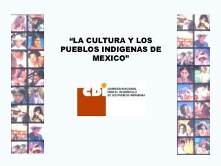 """""""LA CULTURA Y LOS PUEBLOS INDIGENAS DE MEXICO"""""""
