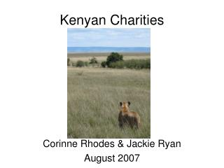 Kenyan Charities
