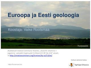 Euroopa ja Eesti geoloogia
