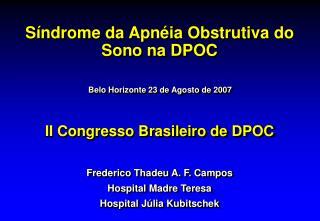 II Congresso Brasileiro de DPOC